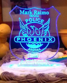 Police  Cake Topper   Acrylic Personalized by artZengraving, $36.00