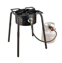 Camp Chef SH140L High Pressure Single Burner Cooker with Detachable legs and Clover Leaf Surface Black -- More info could be found at the image url.