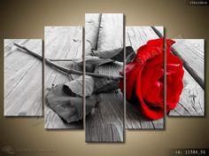 Obraz TRYPTYK 150x100cm Czerwona róża Dzień Kobiet