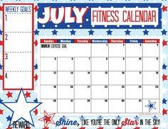 July Fitness Calendar - Sublime Reflection