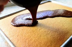 Peanut Butter Cake with Chocolate Icing by Ree Drummond / The Pioneer Woman, via Flickr