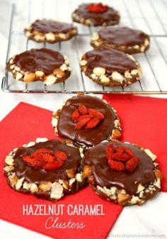 Hazelnut Caramel Clusters...raw, vegan, gluten-free, dairy-free, paleo-friendly and no refined sugar