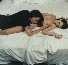 Johnny Depp and Kate Moss by Annie Leibovitz