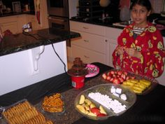The Birthday Girl checks out the Sweets Table.
