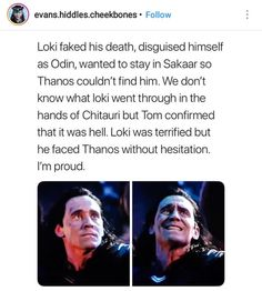 Yes, I am proud of his lack of hesitation to face #Thanos but I still cannot believe he was naive enough to believe that his daggers would do damage against Thanos. #Loki #Infinitywar
