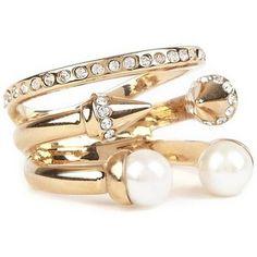 Vita Fede Ultra Mini Tre Pearl rose gold plated ring