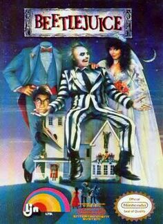 #Beetlejuice - Label or Box Art #nintendo games #gamer #snes #original #classic #pin #synergeticideas #gameon #play #award