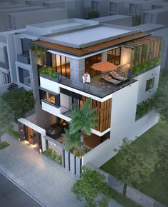 48 inspiration modern house design plant ideas and pictures 29 ⋆ grandes. Modern Exterior House Designs, Modern House Facades, Dream House Exterior, Modern Architecture House, Minecraft Modern House Designs, Modern Bungalow Exterior, Modern Villa Design, 3 Storey House Design, Bungalow House Design