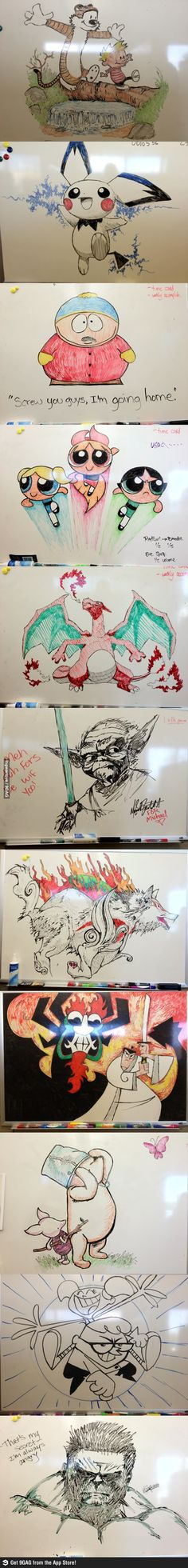 Whiteboard videos of and drawings on pinterest for Cute whiteboard drawings