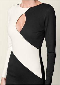 ALTERNATE VIEW Color Block Bodycon Dress Společenské Šaty 9f5e161f07