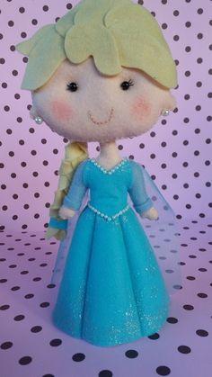 Princesa Frozen  Elsa em feltro #Elsa #Frozen