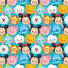 Hey, I found this really awesome Etsy listing at https://www.etsy.com/listing/279917314/disney-tsum-tsum-blue-cotton-fabric-1