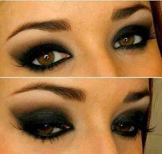 Love the smokey eye for brown eyes