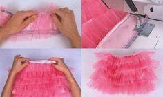 ¿Necesitáis una falda de tul para carnavales? En el siguiente tutorial os mostramos paso a paso a coser una falda de volantes de tul.                                                                                                                                                     Más