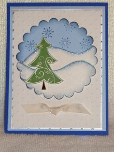 Winter scene... This gave me idea. Take a picture frame and cut scrap paper window and mount onto glass. Paint back of the inside of frame with background. Layer scene or text on card stock and scrap paper inside from front to back and back to front. Like Double layer window look. Paint frame.