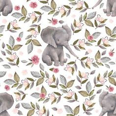 """14"""" Baby Elephant with Flowers/ NO CROWN /... by shopcabin Elephant Crib Bedding, Elephant Fabric, Baby Girl Bedding, Girl Nursery, Elephant Stuff, Elephant Nursery, Animal Nursery, Nursery Bedding, Girl Room"""