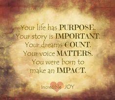 You were born to make an IMPACT! <3