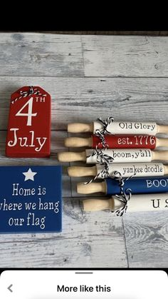 4th July Crafts, Fourth Of July Decor, 4th Of July Decorations, July 4th, Diy Resin Crafts, Diy Craft Projects, Crafts To Sell, Craft Ideas, Americana Crafts