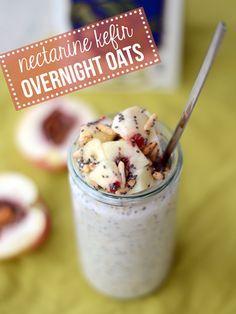 Nectarine Kefir Overnight Oats