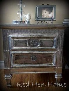 Painted Furniture & Such  -  This board has lots of DIY painted furniture examples, and other unusual painted items. Also lots of tips and how-tos on painting furniture, floors, rugs, etc. like this faux silver leaf finish tutorial -- unreal - done with pieces of aluminum foil - tutorial..