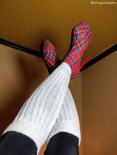 Thigh High Socks, Thigh Highs, Slouch Socks, Socks And Sandals, Nylons Heels, Tartan, High Heels, Lingerie, Shoes