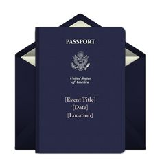 Customizable Passport online invitations. Easy to personalize and send for a party. #punchbowl