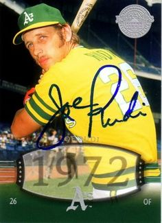 Joe Rudi, Modesto's son, is a former left fielder in Major League Baseball who played for the Kansas City & Oakland Athletics (1967–76, 1982), California Angels (1977–80) and Boston Red Sox (1981). He batted and threw right-handed. Rudi batted a career-high .309 in 1970 and had a career-best 181 hits in 1972. That year, he helped the Athletics win the World Series!