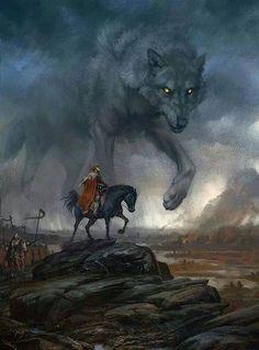 Fenrir é um lobo monstruoso. Fenrir é o pai do lobos Skoll e Hati, é um filho de Loki, e é pressagiado para matar o deus Odin durante os eventos de Ragnarök, mas por sua vez, ser morto pelo filho de Odin Víðarr.