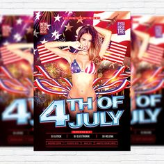 4th of July - Premium Flyer Template + Facebook Cover http://exclusiveflyer.net/product/4th-of-july-premium-flyer-template-facebook-cover-2/