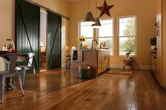 Cajun Spice Hickory Hardwood Floors by Armstrong