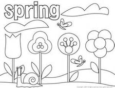 spring break coloring sheet