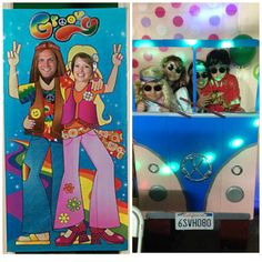 Positiva Creativa: Como decorar una fiesta hippie 50th Birthday Cards, 60th Birthday Party, Birthday Party Decorations, Party Themes, Fiesta Flower Power, Flower Power Party, Hippie Birthday, Hippie Party, 1960s Party