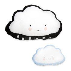 Soft Toy / Cushion . Cloud Black / Blue