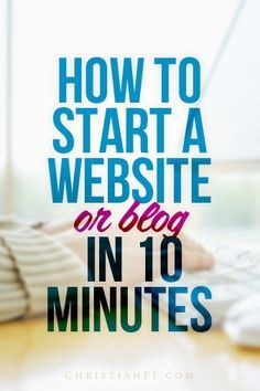 How to Start a Blog (or Website) in 10 Minutes  It's a funny thing being a veteran blogger - I get asked almost daily how to start a website.  I honestly love helping people get started and am truly fascinated at the potential that is available to each and every one of us via a simple little website/blog.    In a lot of ways the playing field has been leveled with big media companies and bloggers...