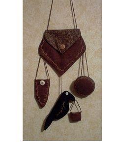 Brown Wool Chatelaine
