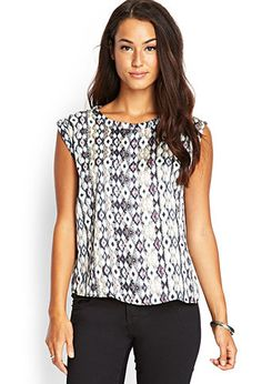 Ikat Print Woven Top | FOREVER21 - 2000062877  12.48