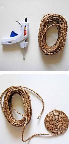 diy rustic rug of jute or sisal rope - Sisal Rope