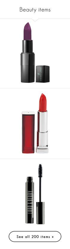 """Beauty items"" by neuzaisabel ❤ liked on Polyvore featuring Beauty, makeup, beauty products, lip makeup, lipstick, beauty, lips, cosmetics, fillers and moisturizing lipstick"