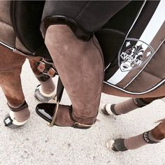 The most important role of equestrian clothing is for security Although horses can be trained they can be unforeseeable when provoked. Riders are susceptible while riding and handling horses, espec… Equestrian Boots, Equestrian Outfits, Equestrian Style, Equestrian Fashion, Horse Fashion, Riding Hats, Horse Riding, Riding Clothes, Riding Outfits