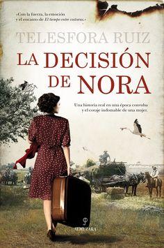 """""""La decisión de Nora"""" (3S/8740) es la primera novela de Telesfora Ruiz. La trama se desarrolla en Andalucía, en la posguerra. Nora es una mujer de clase acomodada que se escapa de la casa familiar en compañía de Antonio, un joven de orígenes humildes. La fuga provoca una gran conmoción en el seno de la familia de Nora pero los jóvenes se amarán por encima de todos los obstáculos que se irán interponiendo en su camino."""