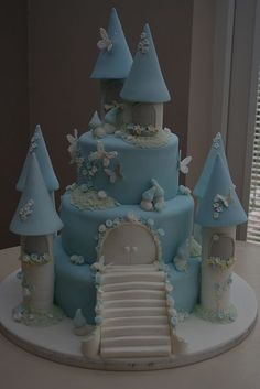 Harry's 3 Tiered Christening Castle Cake | Flickr - Photo Sharing!