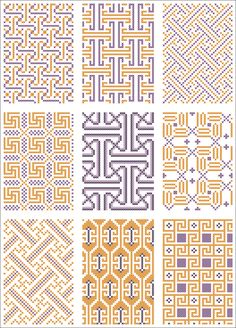 All-over pattern for cross stitch or knitting. Cross Stitch Borders, Modern Cross Stitch, Cross Stitch Charts, Cross Stitching, Cross Stitch Patterns, Blackwork Embroidery, Cross Stitch Embroidery, Diy Embroidery, Embroidery Patterns
