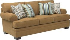 Landon Sofa   Make a statement: The traditional Landon Sofa is beautifully detailed and very comfortable, with setback pleated-roll sock arms, T-cushions, and hundreds of custom options.