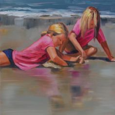 DPW Fine Art Friendly Auctions - Pink Duo by Liz Pasqualini Fine Art Auctions, Beach Art, Street Art, Culture, Artist, Pink, Paintings, Pretty, Pintura