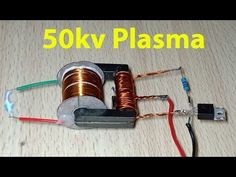 50kv High voltage plasma inverter from 3.7v - YouTube