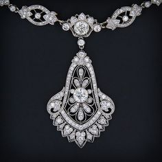 Vintage Cartier - diamond necklace, is there anything more stunning?