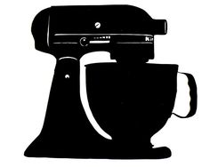 #papercraft #SVGCuts for #Silhouette KitchenAid Mixer