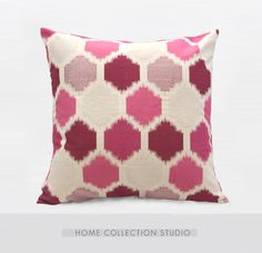 Westley Amagansett枕头 时尚格子纹理 公主粉紫色高级绒布抱枕