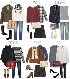 Fall Outfit Ideas - every piece is $30 or less! Great fashion style tips! Perfect!! Sub pants for skirts/different top for the stripes.