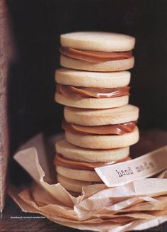 Shortbread Caramel Sandwich Cookies | via donnahay's